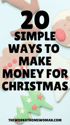 Looking for easy ways to make extra money this holiday season? Check out this list of 20 money making ideas you can do from home or as a side job! #christmas #cash #craftstosell #sidejobs #oddjobs #extracash #jobs #online How To Get Money Fast, Way To Make Money, Make Money Online, Earn Extra Cash, Extra Money, Bussines Ideas, Money Pictures, Cash From Home, Crafts To Sell