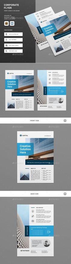Flyer Template Vector EPS, AI Illustrator, MS Word #design