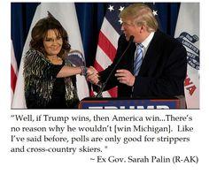 Ex Governor Sarah Palin on Polls and Donald Trump