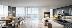 Apartment in Oslo centrum Villa, Modern Contemporary, Real Estate, Luxury, Architecture, Oslo, Table, Design, Furniture