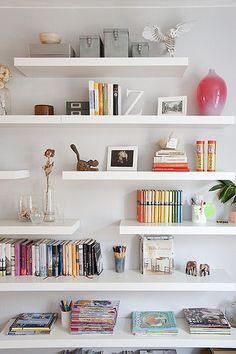 lago linea modular wall shelving minimalist book shelf | for the