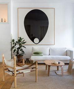 Oversized art in the living room
