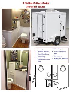 2 Stall Porta Lisa Plus Cottage Series -  Great for cozy #intimate parties or weddings of up to 225 guests. Beautiful Amenities; AC, Heat, Stereo & Running Water perfect for small size get togethers. When it calls for more than a Portable Toilet.  800-475-0049