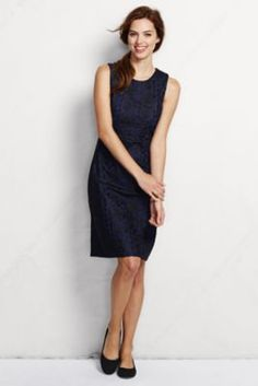 Women's Sleeveless Embroidered Overlay Dress- Land's End- Another Anthro-ish piece.