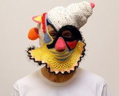 Go on - crochet yourself a face this afternoon-  Aldo Lanzini