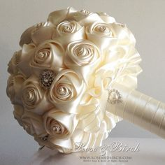 MADE TO ORDER Bridal/Wedding Bouquet Satin от RoseAndBirchBouquets