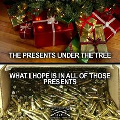 lol this is so what my mom wanted to do for Hubby Gun Humor, Reloading Ammo, Guns Dont Kill People, Guns And Ammo, Crazy People, Pin Image, Firearms, Fun Facts, Christmas Wreaths