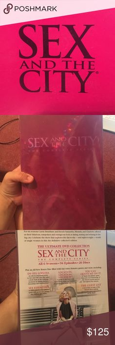 Sex and the City Complete Box Set and Necklace Never opened Box set of SATC & A Necklace included. Necklace has only been worn a few times and shows some signs of wear. The complete series is on HBOs website for $174 and the necklace was originally $60 and is currently selling for $27 Dogeared Other