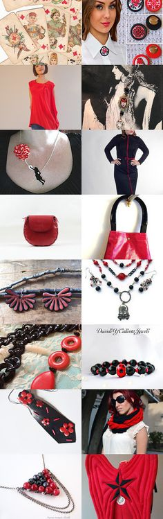 Red and Black by Anastasiya and Mariya on Etsy--Pinned with TreasuryPin.com