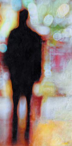 Maite Benito Agahnia, photo encaustic, 30 x 15 inches