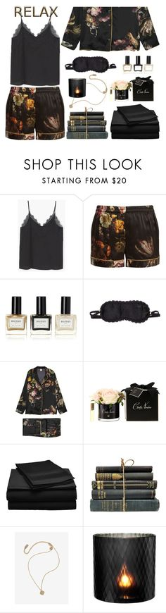 """Love And Madness"" by ms-wednesday-addams ❤ liked on Polyvore featuring MANGO, MORPHO + LUNA, Balmain, L'Agent By Agent Provocateur, Côte Noire and Eichholtz"