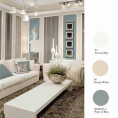 Living room : Navajo white for walls and swiss coffee on ceiling Kelly-Moore Paints Unveils New Collection Top Color Picks to Enliven 10 Classic Neutrals Living Room Paint, Living Room Colors, My Living Room, Swiss Coffee Paint Color, Up House, Interiores Design, House Colors, Decoration, Colorful Interiors