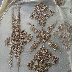 Renovate your Wardrobe, We provide customization in Designer Blouses & women ethnic wear. that reflect Amazing Handwork & Unique Zardosi Art at Your Budget & time, Worldwide Delivery. Zardosi Embroidery, Kurti Embroidery Design, Bead Embroidery Patterns, Hand Work Embroidery, Embroidery Fashion, Beaded Embroidery, Embroidery Stitches, Indian Embroidery Designs, Wedding Embroidery