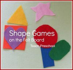 Simple shape games on the felt board