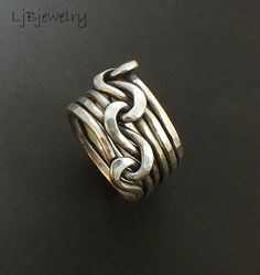 Hey, I found this really awesome Etsy listing at https://www.etsy.com/listing/154366239/silver-ring-triple-knot-ring-lovers-knot