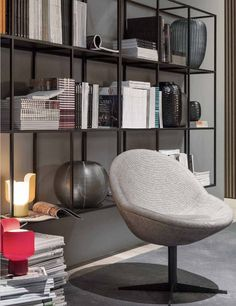Meridiani presents its new collection in Paris - Comfortable and contemporary shapes, handcrafted finishes #books #readingcorner @MERIDIANIsrl