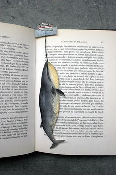Whale point book, bookmark by Silvia Cairol