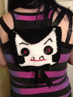 Lil Unknown knit backpack (modeled after Unknown Hinson!!!) so damn cool!