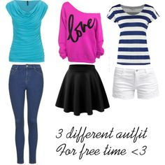 3 different autfit for free time