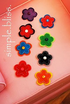 Simple Bliss: How to make Felt Flower Clips