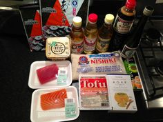 £50 later.. sushi ingredients for a first try at making some at home