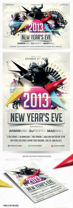2013 New Years Eve Party Flyer Vol.2 - GraphicRiver Item for Sale