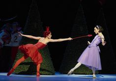 Alice's Adventures in Wonderland - Itziar Mendizabal as the Queen of Hearts and Sarah Lamb as Alice