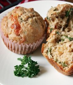 smoked gouda, sun-dried tomato and parsley muffins.