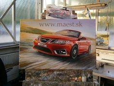 Saab On Canvas By maest.sk