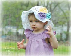 12 months to 3T crochet girl spring floppy by stitchesbystephann