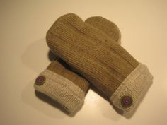 Clawson Wool Mittens women med/lg  MMC403 by MichMittensbyLauri, $23.00