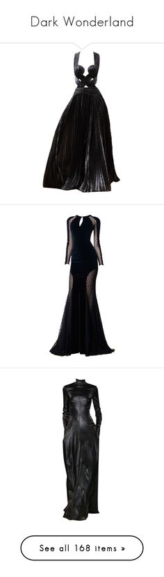 """""""Dark Wonderland"""" by misthemma ❤ liked on Polyvore featuring dresses, gowns, long dresses, vestidos, zuhair murad gowns, zuhair murad evening gowns, zuhair murad dresses, zuhair murad, dolls and talbot runhof"""