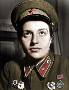 Lyudmila Pavlichenko, Soviet sniper credited with killing 309 German soldiers during WWII.