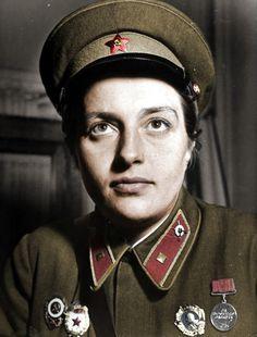 Lyudmila Pavlichenko, Soviet sniper credited with killing 309 German soldiers during WWII.