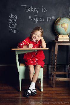 1st day of school/Kindergarten photo ideas