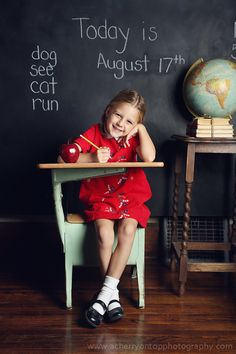 1st day of school/Kindergarten photo ideas