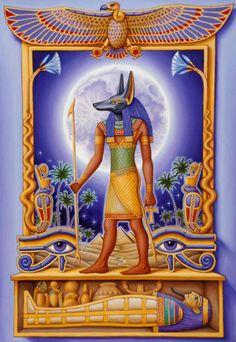 Egypt - Land of the Gods and Pyramids Egyptian Mythology, Egyptian Goddess, Ancient Egyptian Art, Ancient Aliens, Ancient History, European History, Ancient Greece, Eye Of Anubis, Anubis Mask