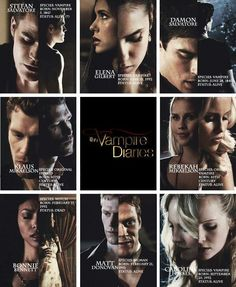 TVD character profiles! The Vampire Diaries. <3 number 2 on the list of favorite shows scoobydoo is number one