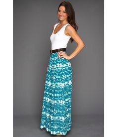 love the look...the skirt is too expensive....Calvin Klein Tie-Dye Maxi Dress with Belt Lagoon - Zappos.com Free Shipping BOTH Ways