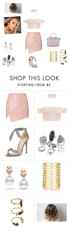 """Interview about your new single"" by itzsam on Polyvore featuring Michelle Mason, Alexandre Birman, Escalier, Jules Smith, Noir Jewelry and MICHAEL Michael Kors"