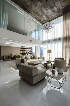 Great living room design and decoration ideas: Are you deciding to decorate your living room with a few great decorations? Browse living room design layouts and ideas. Check the webpage for more info. Contemporary Interior Design, Home Interior Design, Interior Architecture, Modern Design, Interior Decorating, Decorating Ideas, Luxury Interior, Room Interior, Contemporary Style