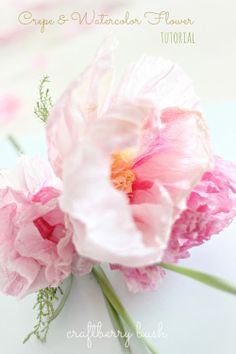 DIY+Floral+Spring+Posy+from+Craftberrybush+Blog Crepe and Watercolour Flower Tutorial from Craft Berry Bush Blog Perfect Inspiration for Mot...
