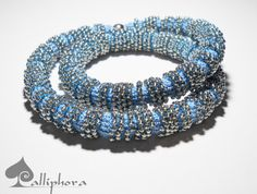 Spiral bead crochet. Necklace- bracelet    I used Japanese beads and cotton thread.    Magnetic closure .    Length: 45 cm