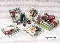 Today I'm sharing my first ever Christmas themed exploding box with you. I really enjoy the concept of a card in the shape of a box, because of it's obvious … Christmas Paper Crafts, Christmas Scrapbook, Christmas Cards To Make, Xmas Cards, Diy Christmas Gifts, Handmade Christmas, Pop Up Box Cards, 3d Cards, Boite Explosive