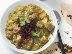 Pork Chile Verde with Red Chile Salsa