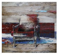 'Scarlet Armchair I' (oil on boat panel) by Jane Mitchell.