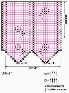 схема филейного вязания крючком