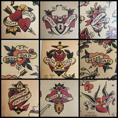 Really wanting a traditional mom and dad tattoo. These were the ones that really…