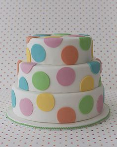 I love the idea of a cake like this, but in pink, red and white.