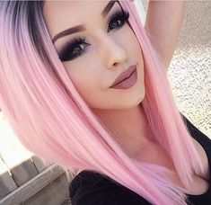 pink fade hair Purple Violet Red Cherry Pink Bright Hair Colour Color Coloured C… – Hair Makeup Love Hair, Gorgeous Hair, Coloured Hair, Bright Colored Hair, Cool Hair Color, Unique Hair Color, Rainbow Hair, Crazy Hair, Purple Hair
